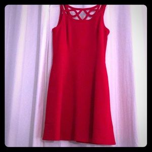 WHBM Red Dress with Pockets!!